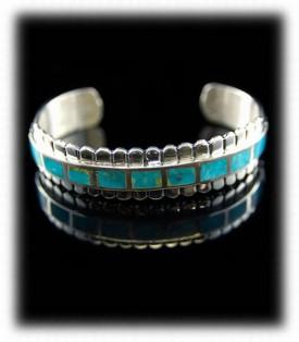 Blue Turquoise Bracelet - Kingman Turquoise