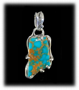Turquoise Pendant by Crystal Hartman