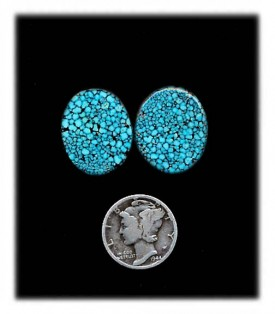 Black Web Kingman Turquoise  Cabochons Available