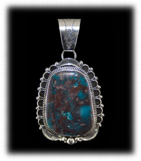 Deep Rich Bisbee Blue Turquoise in Sterling Silver