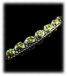 Lime Turquoise Mens Bracelet, Mans Turquoise Link Bracelet