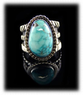 Lone Mountain Mens Turquoise Ring