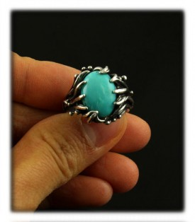 Sterling Silver Turquoise Ring by Nattarika Hartman