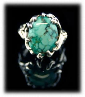Womens Turquoise Ring in Lost wax design