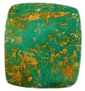 Manassa Turquoise Cab, a great example of Natural Colorado Turquoise