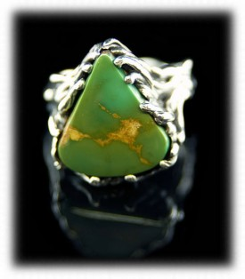 Green Turquoise Ring featuring a Manassa Turquoise