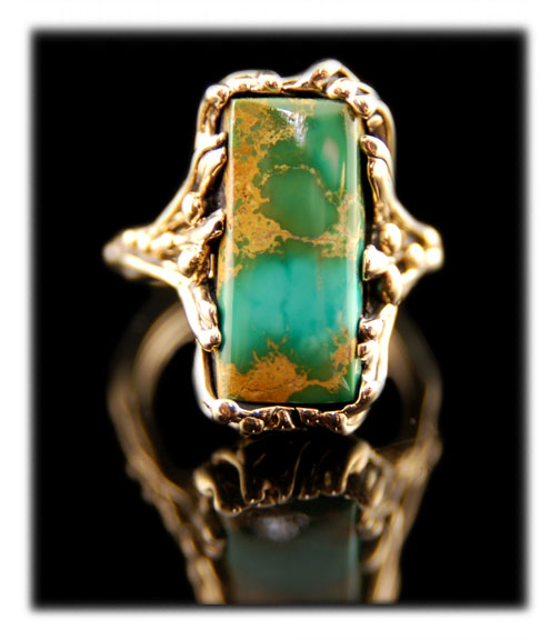 Manassa Gold and Turquoise Ring