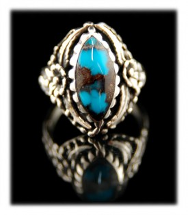 Bisbee Turquoise Marque Womens Ring