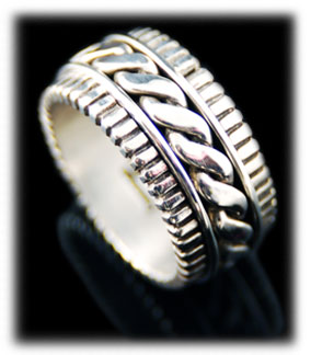 Sterling Silver Mens Bands