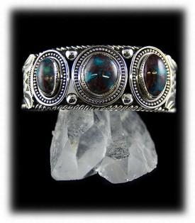 Navajo Mens Bracelet, Native American Mens Turquoise Bracelet, Bisbee Turquoise Bracelet