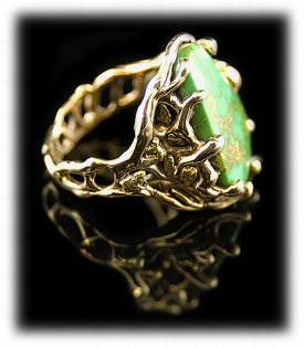 Mens Gold Jewelry, Mens Gold Rings, Mens Gold Tuquoise Rings