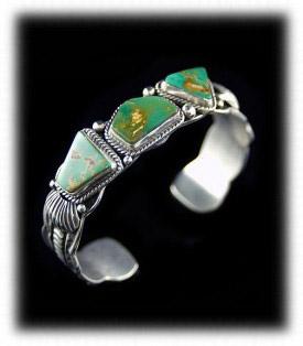 Navajo Turquoise Mens Bracelet
