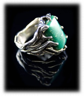 Green Turquoise Jewelry Ring