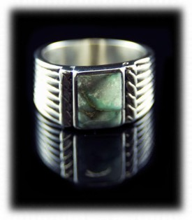 Mens Inlaid Silver Rings