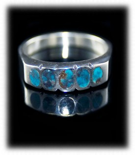 Mens Inlay Silver Jewelry