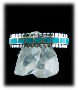 Inlay Men's Turquoise Bracelet