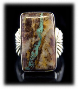 Mens Boulder Turquoise Ring