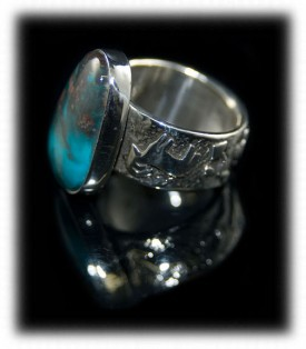Mens Silver Ring - side view