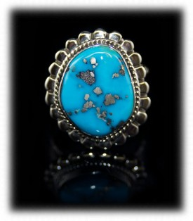 Mens Silver Jewelry - Mens Turquoise Ring