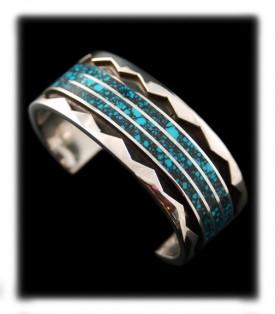 Men's Spiderweb Turquoise Bracelet