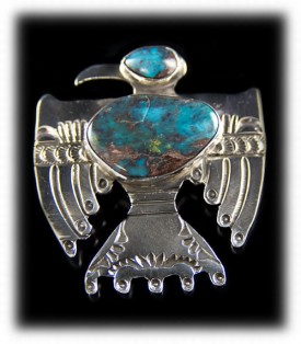 Mens Thunderbird Silver Pendant