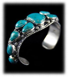Mens Turquoise Bracelet - Fox Turquoise