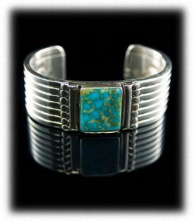 Blue Turquoise Mens Bracelet, Mens Turquoise Bracelet, Native American Mens Turquoise Bracelet