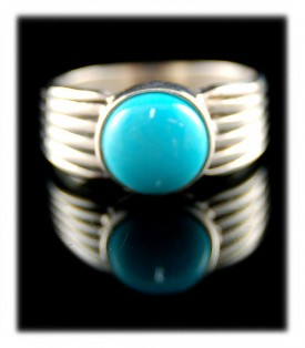 Mens Turquoise Ring Bands