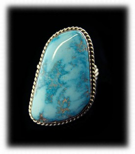 Blue Gem Mens Turquoise Ring