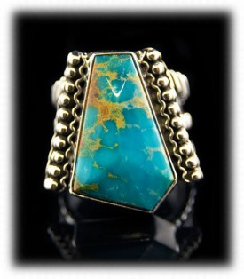 Kingman Mens Turquoise Ring