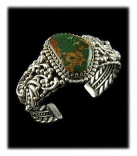Royston Turquoise Victorian Silver Bracelet