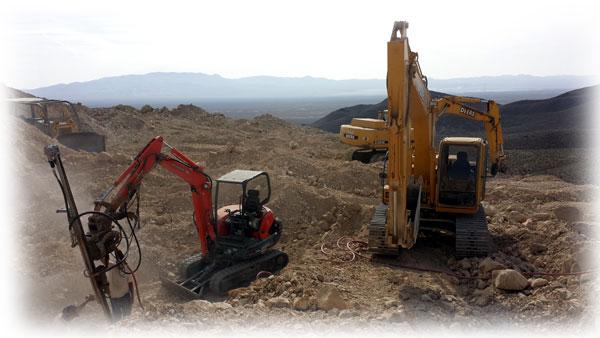 The Wilson family mining the Montezuma / Troy Springs mine at Pilot Mountain