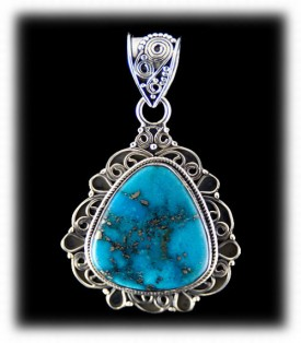Blue Silver Turquoise Pendants