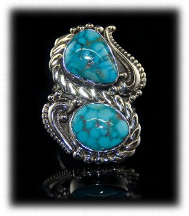 Spiderweb Morenci Turquoise Ring