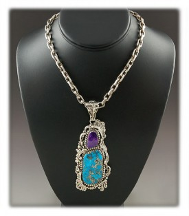 American Turquoise Necklace - Morenci Turquoise