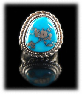American Turquoise Ring - Morenci Turquoise