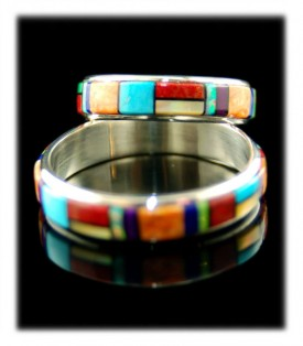 Multi Colored Gemstone Band Rings