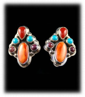 Navajo Handmade Gemstone Post Earrings
