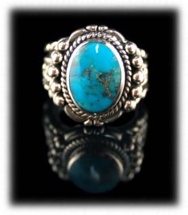 Native American Handmade Blue Turquoise Ring