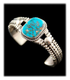 Native American Turquoise Bracelet - Morenci Turquoise