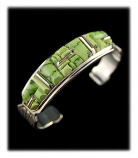 Lime Turquoise American Inlaid Bracelet