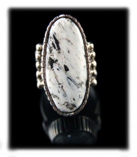 White Turquoise Ring - Native American Handmade