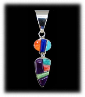 Native Indian Jewelry - Navajo Inlay Pendant