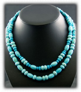 Blue Turquoise Beads - Native Indian Jewelry