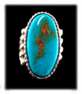 Natural Blue Gem Turquoise from Durango Silver Co