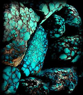 quality spiderweb turquoise  rough