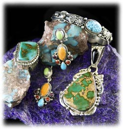 Natural Turquoise in many different shades