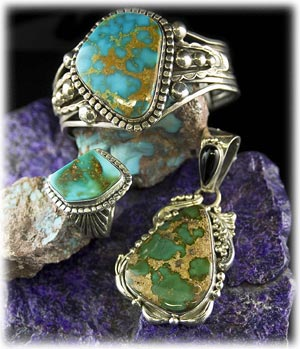 Natural Turquoise and Sugilite
