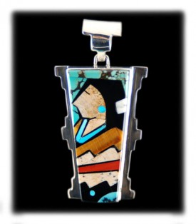 American Indian Pendant Necklace by Edison Yazzie