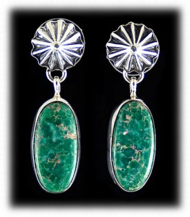 Navajo Turquoise Earrings - Navajo Jewelry